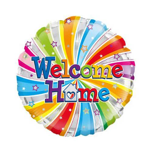 Welcome Home Swirl Round Foil Helium Balloon 46cm / 18Inch Product Image