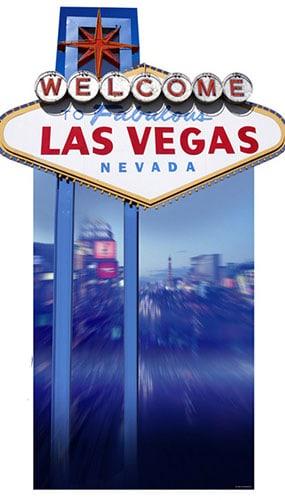 Welcome to Fabulous Las Vegas' Lifesize Cardboard Cutout - 183cm