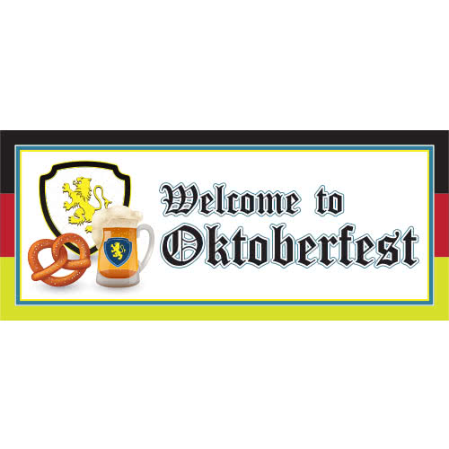 Welcome to Oktoberfest Flag PVC Party Sign Decoration 60cm x 25cm Product Image