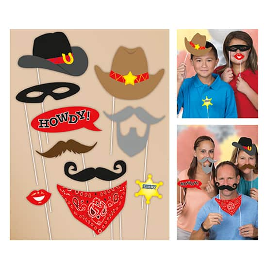 Western Photo Prop Accessories - Pack of 10