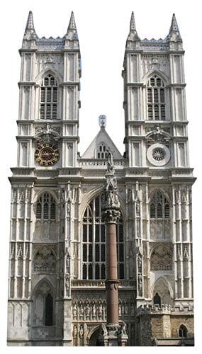 Westminster Abbey Lifesize Cardboard Cutout - 175cm Product Image