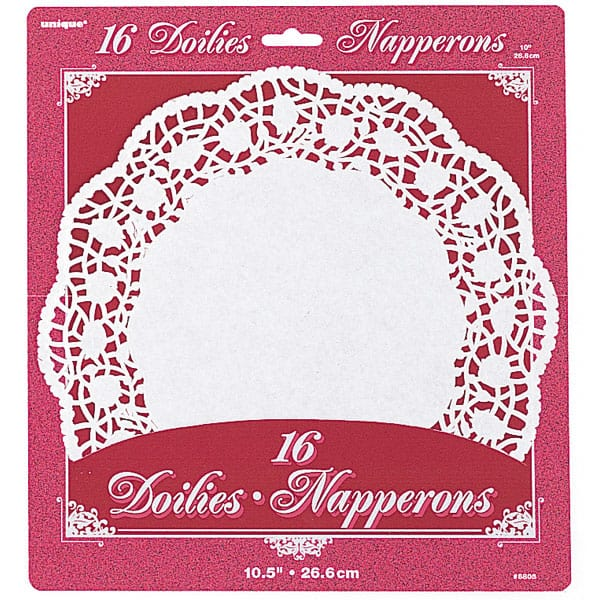 White Round Paper Doilies - 10.5 Inches / 27cm - Pack of 16