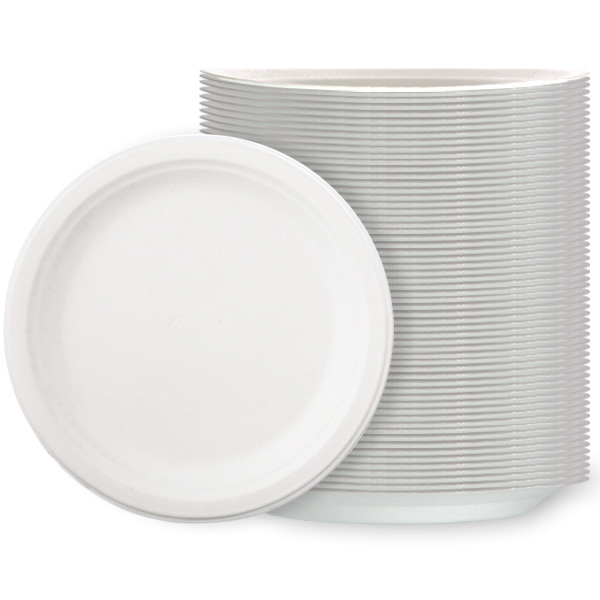 White Poly Plates - 10 Inches / 26cm - Pack of 125 Product Image