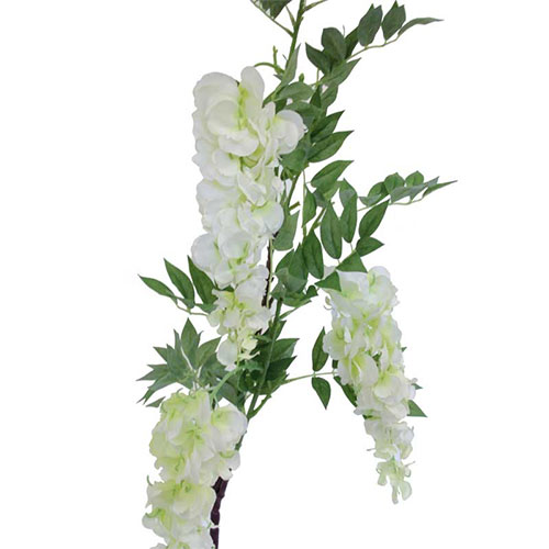 White 3 Head Wisteria Artificial Flower 122cm Product Image