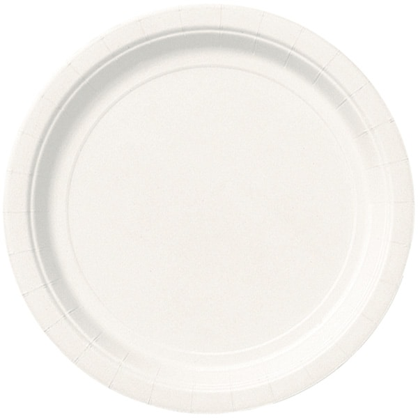 White Round Paper Plates 22cm - Pack of 16 Product Image