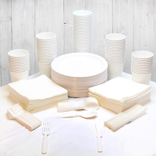 White 90 Person Party Pack Product Image