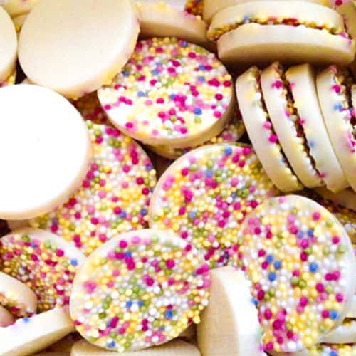 White Chocolate Disco Disc With Sprinkles Sweet Product Image