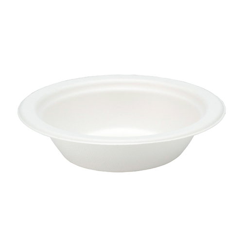 White Compostable Bagasse Bowls 18cm - Pack of 125 Product Image