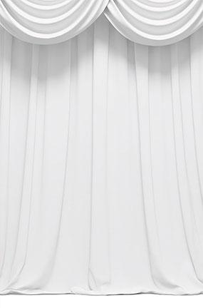 White Curtain Design Large PVC Cake Photography Backdrop 137cm x 90cm Product Image