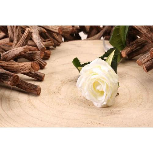 White Diamond Rose Artificial Silk Flower 40cm