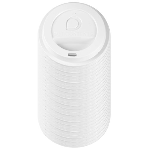 White Hot Drinks Lid With Drinking Hole - Pack Of 25