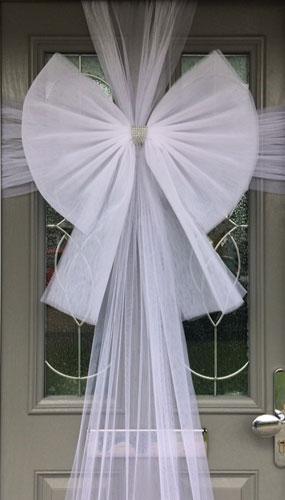 White Door Bow Decoration Product Image