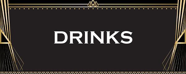 White Drinks PVC Party Sign Decoration 60cm x 25cm
