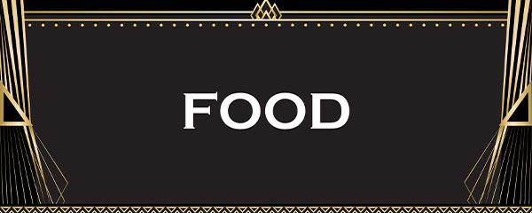 White Food PVC Party Sign Decoration 60cm x 25cm