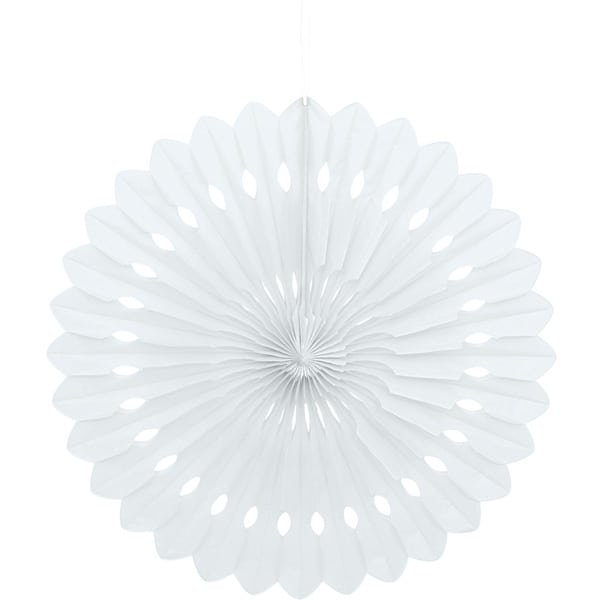 White Hanging Decorative Honeycomb Fan 40cm