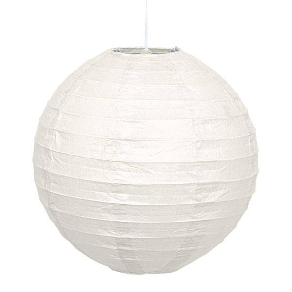 White Hanging Round Paper Lantern 25cm