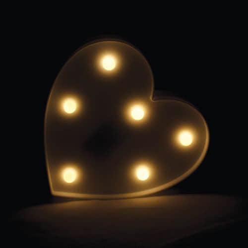 White Heart Led Light Decoration 17cm Product Image