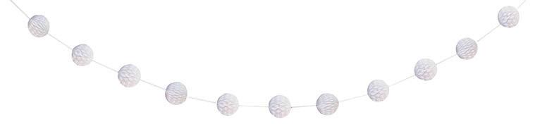 White Honeycomb Ball Garland - 213cm Product Image
