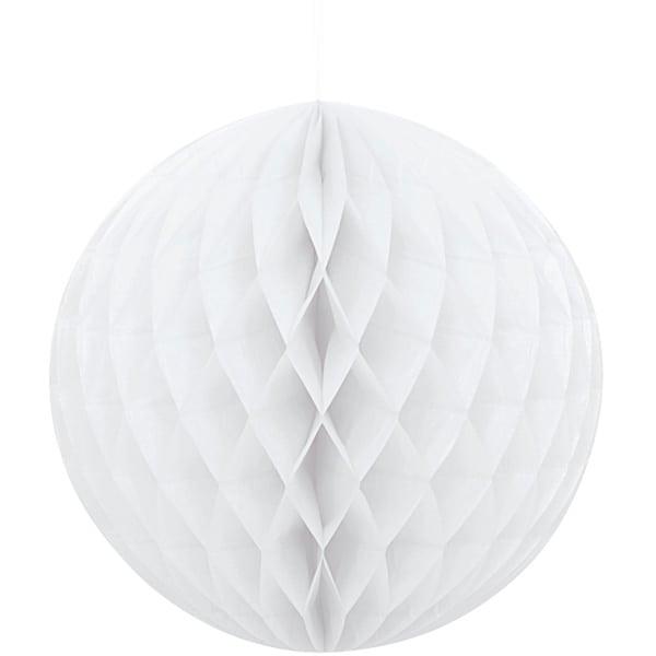White Honeycomb Hanging Decoration Ball 20cm Product Image