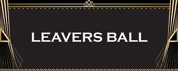 White Leavers Ball PVC Party Sign Decoration 60cm x 25cm