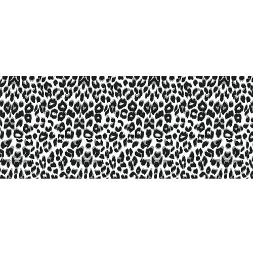 White Leopard Animal Print PVC Party Sign Decoration 60cm x 25cm Product Image