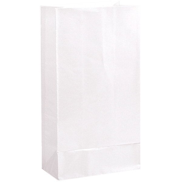 White Paper Party Bag - Pack of 12