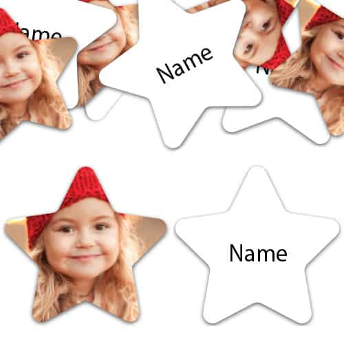 STAR Shape - White Personalised Confetti - Pack of 50