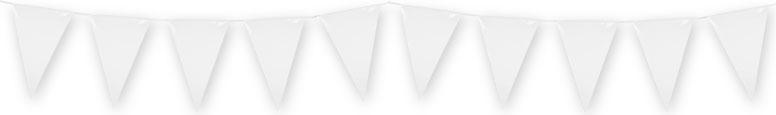 White Plastic Pennant Bunting 10m