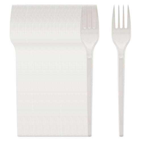 White Plastic Forks - Pack of 100