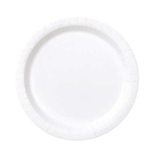 White Round Paper Plates 17cm - Pack of 20