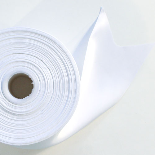 White Satin Faced Ribbon Reel 100mm x 91m