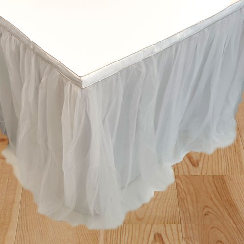 White Deluxe Tulle Table Skirt 180cm x 80cm Product Image