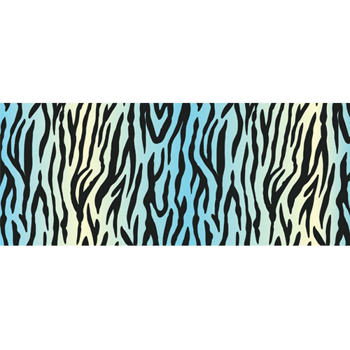 White Tiger Ombre Animal Print PVC Party Sign Decoration 60cm x 25cm Product Image