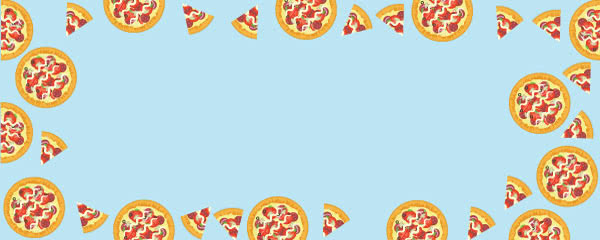 Whole Pizza Design Small Personalised Banner - 4ft x 2ft