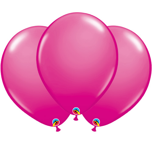 Wild Berry Hot Pink Latex Qualatex Balloons 40cm / 16 in - Pack of 50 Product Image