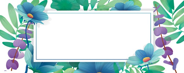 Wild Flowers Design Small Personalised Banner - 4ft x 2ft