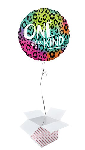 Wild One of a Kind Round Foil Helium Balloon - Inflated Balloon in a Box Product Image