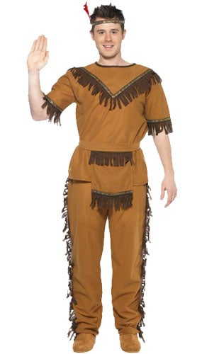 Wild West Brave Indian Costume Large Mens Fancy Dress