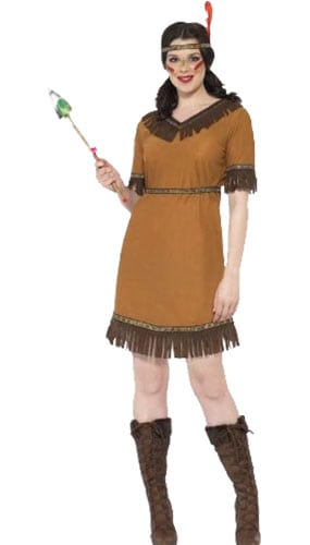 Wild West Indian Maiden Costume Large Ladies Fancy Dress Product Image