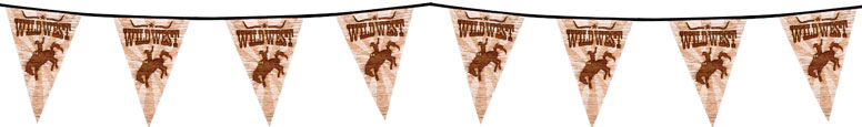 Wild West Plastic Pennant Bunting 6m Product Image