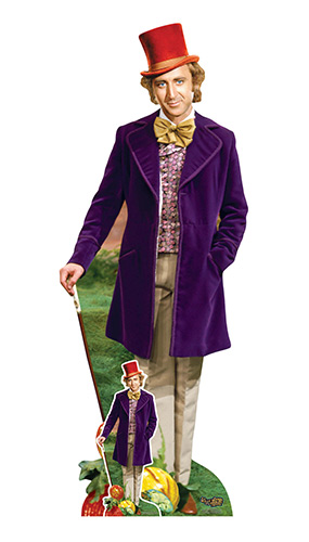 Willy Wonka and the Chocolate Factory Gene Wilder Lifesize Cardboard Cutout 193cm Product Image