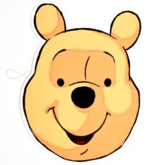 Winnie the Pooh Cardboard Face Mask Product Image