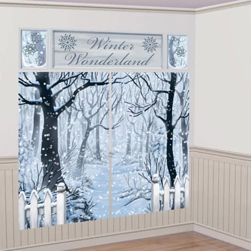 Winter Wonderland Scene Setter Christmas Backdrop Decorating Kit  Product Image