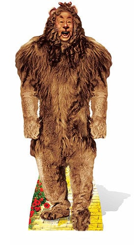 Wizard Of Oz The Cowardly Lion Lifesize Cardboard Cutout - 164cm Product Image