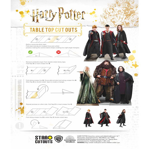 Wizarding World of Harry Potter Table Top Cutout Decorations - Pack of 9 Product Gallery Image