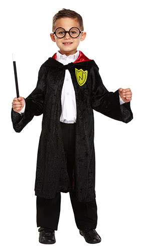Wizzard Children Fancy Dress Costume 7-9 Years - Medium Product Image