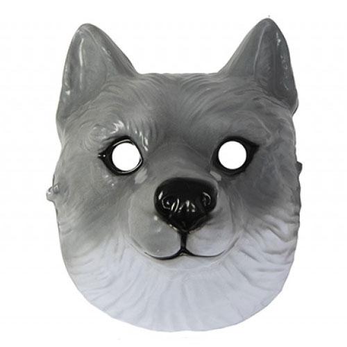 Wolf Plastic Face Mask 22cm Product Image
