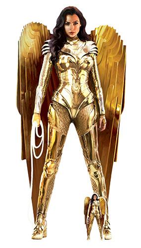 Wonder Woman Gold Armour WW84 Lifesize Cardboard Cutout 186cm