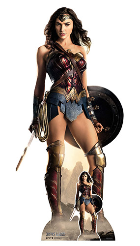 Wonder Woman Justice League Shield Lifesize Cardboard Cutout 187cm