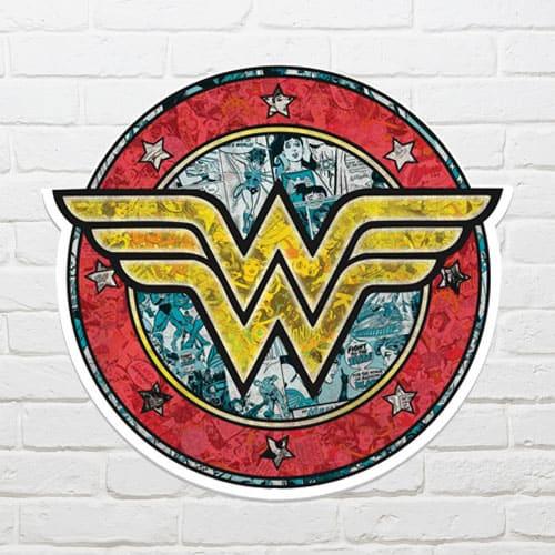 Wonder Woman Shield Wall Art 68 x 72cm